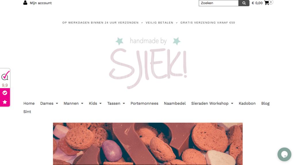 site handmade by sjiek