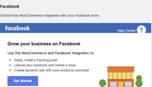 Facebook koppelen aan woocommerce